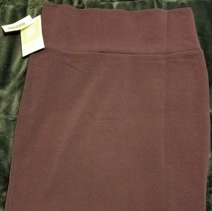 NWT Medium LulaRoe Cassie Skirt-Eggplant Purple